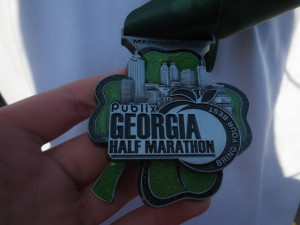 2013 Half-marathon medal