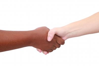Black White Handshake