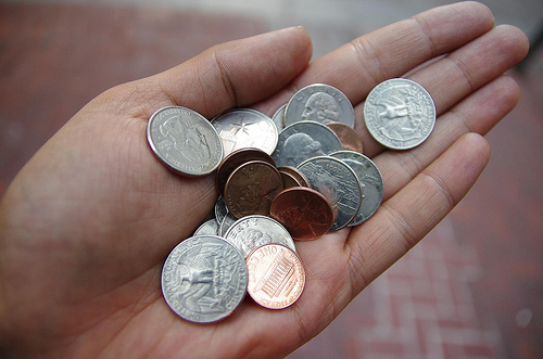 money in open hand