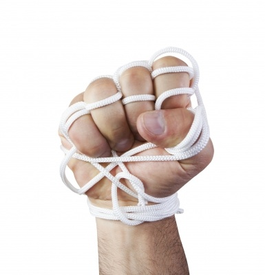 tied up hand
