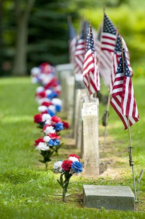 Memorial Day cemetary
