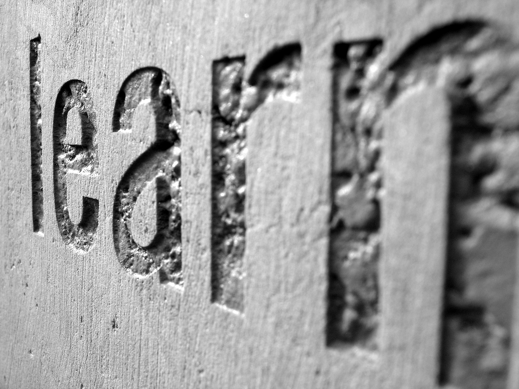 word learn engraved in stone