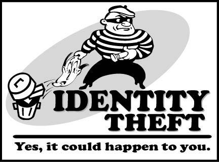 identity theft cartoon
