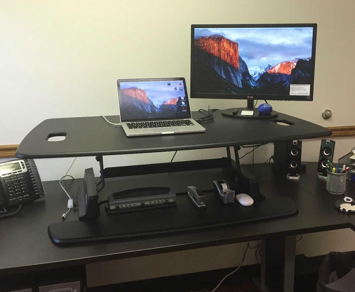 standing desk by Varidesk